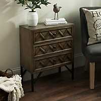 Elyssa Rustic 3-Drawer Chest