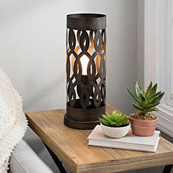 Bronze Metal Geometric Cutout Uplight