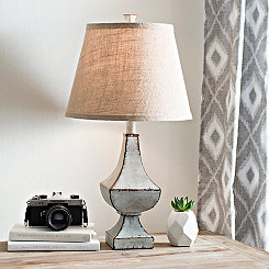 Antique Gray Table Lamp
