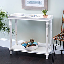 Ivory Tray Top Console Table