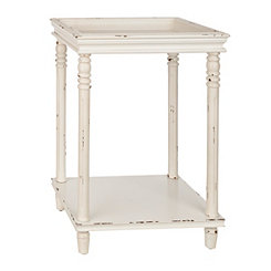 Ivory Tray Top Accent Table
