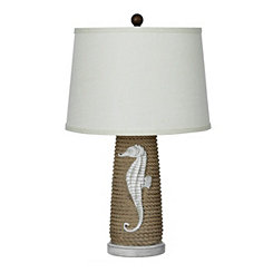 Nautical Seahorse and Rope Table Lamp
