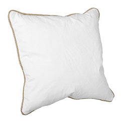 Ivory Cotton Pillow with Jute Trim