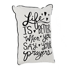 Say Your Prayers Accent Pillow