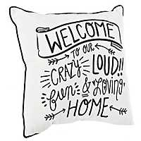 Welcome To Our Crazy Home Pillow