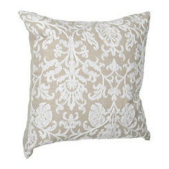 Ivory Damask Linen Finish Pillow