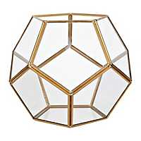 Gold Dome Geometric Terrarium
