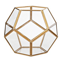 Gold Dome Geometric Terrarium, 6 in.