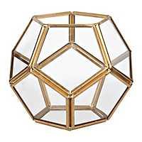 Small Gold Dome Geometric Terrarium