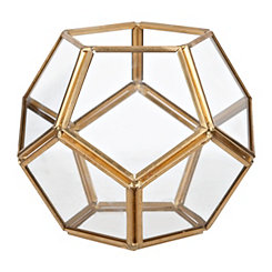 Small Gold Dome Geometric Terrarium