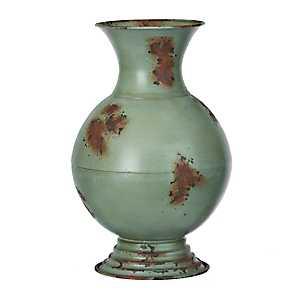 Distressed Seahawk Olivia Metal Vase