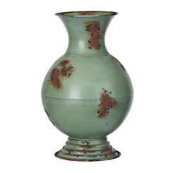 Distressed Seahawk Olivia Metal Vase