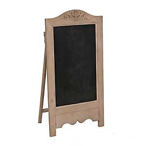 Natural Wood Floral Chalkboard Easel