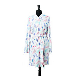 White Feather Polysuede Robe, L/XL