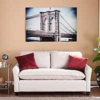 Brooklyn Floating Glass Art Print