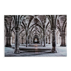 Gothic Architecture Floating Glass Art Print
