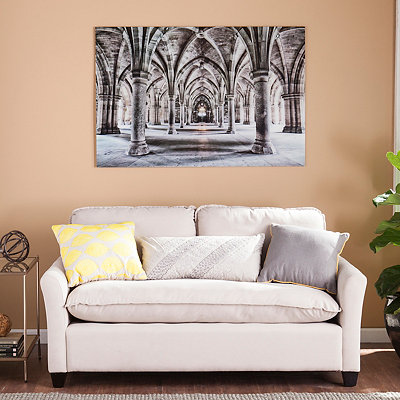 Gothic Architecture Floating Glass Art Print : Glass