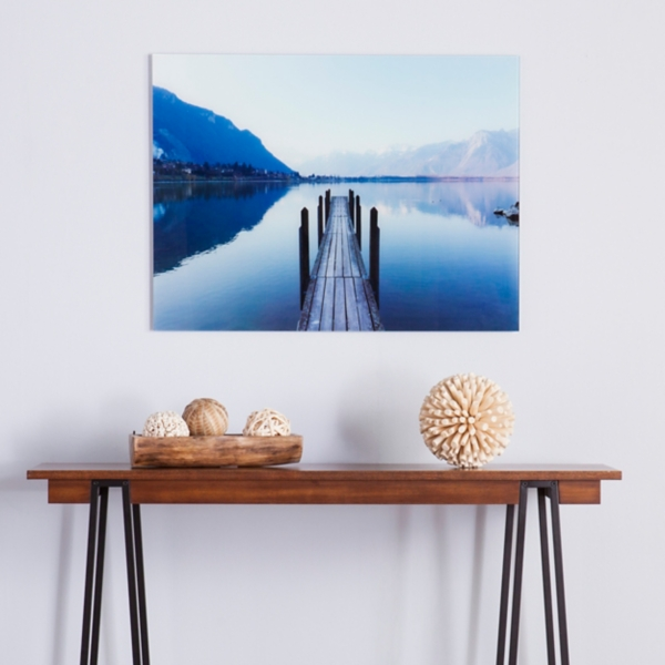 Calm Waters Floating Glass Art Print