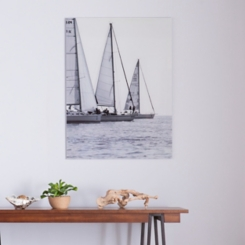 Troise Voiles Floating Glass Art Print