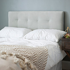 Light Gray Velvet Tufted Full Headboard