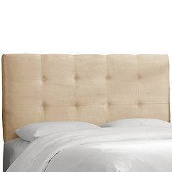 Buckwheat Velvet Tufted Queen Headboard