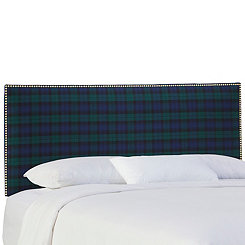 Blackwatch Nail Button Border King Headboard