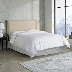 Sandstone Linen French Seam Queen Headboard