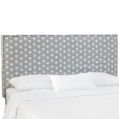 Flora Gray Slipcover California King Headboard
