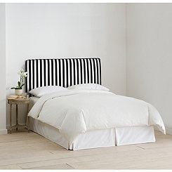 Canopy Stripe Black & White Full Headboard
