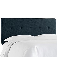 Zuma Navy Five Button Full Headboard