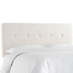Zuma White Five Button Queen Headboard