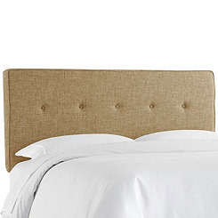 Zuma Linen Five Button Queen Headboard