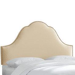 Buckwheat Velvet Arch Nail Button Full Headboard