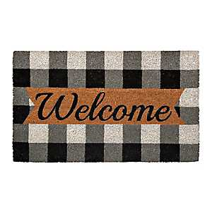 Black And White Buffalo Check Welcome Mat
