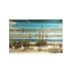Sand Dunes Slatted Wood Art Print