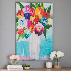 Floral Bouquet in Vase Canvas Art Print