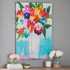 Floral Bouquet in Vase Canvas Art Print