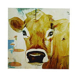 Cow Gaze Canvas Art Print