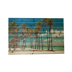 Palm Trees Slatted Wood Art Print