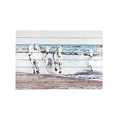 Horses Running Slatted Wood Art Print
