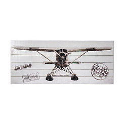 Plane Front View Slatted Wood Art Print