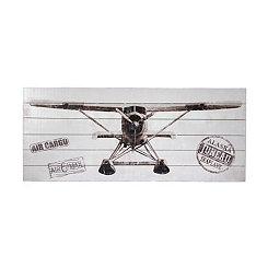 Plane Front View Slatted Wood Art Print