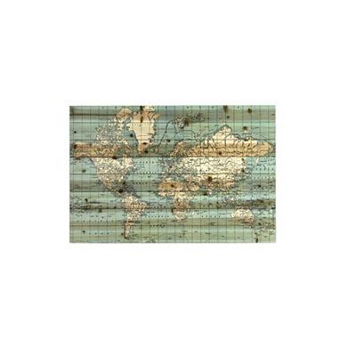 World Map Slatted Wood Art Print