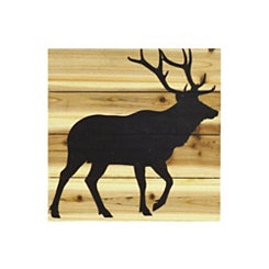 Deer Silhouette Slatted Wood Art Print