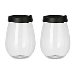 Wine Glass With Lid, Set of 2