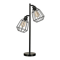 Double Cage Edison Bulb Table Lamp