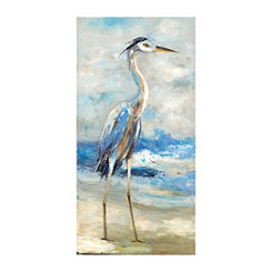 Seaside Heron Canvas Art Print