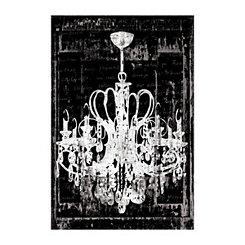 Chandelier In Black Canvas Art Print