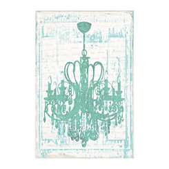 Chandelier In Mint Canvas Art Print
