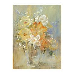 Soft Flowers Canvas Art Print